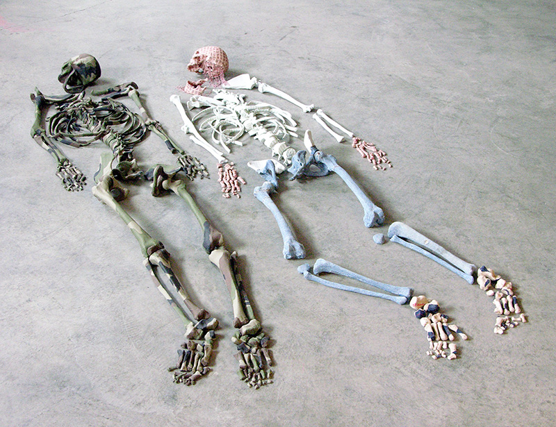 Skeletons 2006<div style='clear:both;width:100%;height:0px;'></div><span class='cat'>2010-2006 (EN)</span><div style='clear:both;width:100%;height:0px;'></div><span class='desc'>Size: Installation <br>Material: Textile, polyester <br> in collaboration with Merijn Bolink</span>